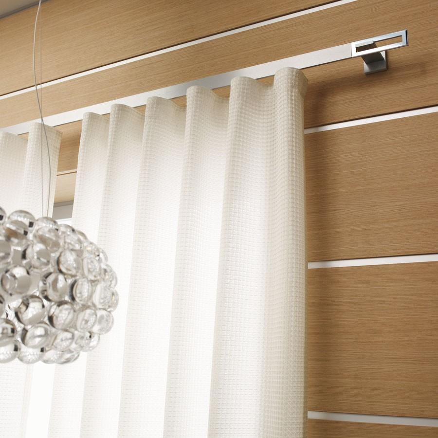 Sistemas de barras para cortinas lola decoracio for Cortinas de visillo para salon